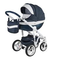 Детская универсальная  коляска Adamex Monte Carbon Deluxe 2в1 (D7)