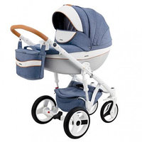 Детская универсальная коляска Adamex Monte Carbon Deluxe 3в1 (D33), фото 1