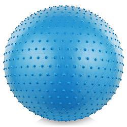 Фитбол, мяч для фитнеса массажный с насосом, (d=75см)