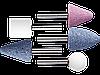 """Набор STAYER """"MASTER"""": Абразивные минишарошки-насадки для гравера и дрели, хвостовик d 3,2мм, 5 предм."""