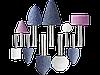 """Набор STAYER """"MASTER"""": Абразивные минишарошки-насадки для гравера и дрели, хвостовик d 3,2 / 6,0мм, 10 предм."""