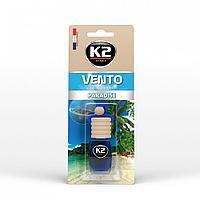 """Ароматизатор K2 """"VENTO"""" флакон с деревянной крышкой (рай)"""