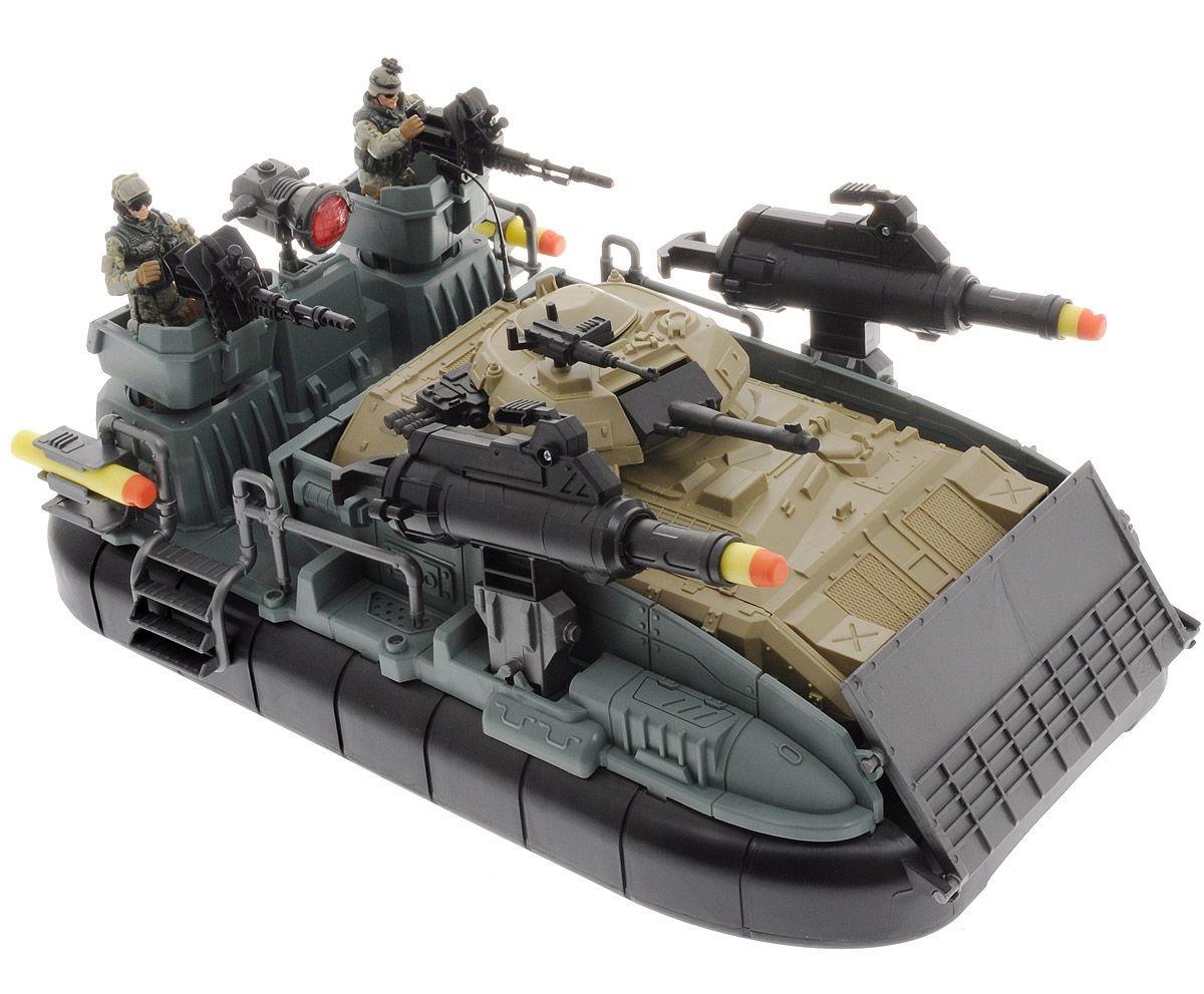 Solder Force Набор: Морская десантная операция (3 фигуры, звук, свет, стреляет)