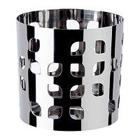 Украшение для свечи в стеклянном стакане Ваккерт, нержавеющая сталь лист