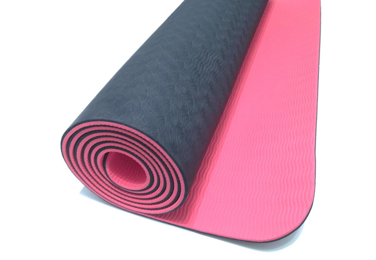 Коврики для йоги (61х183х0.6 см) TPE, с чехлом - фото 2