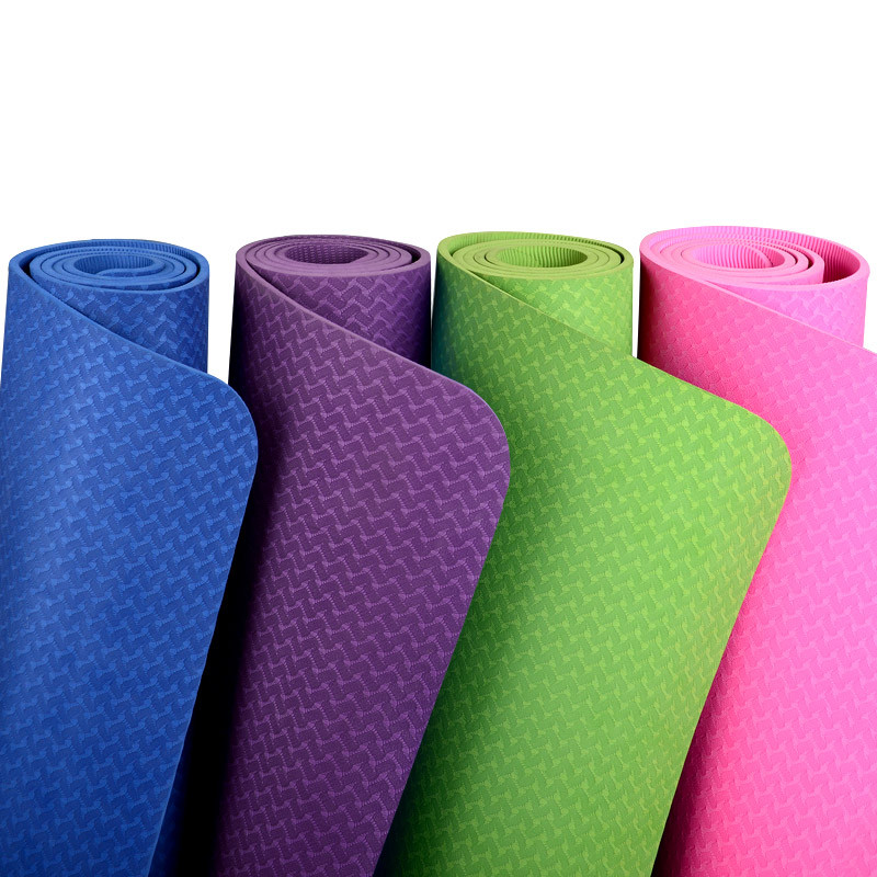 Коврики для йоги (61х183х0.6 см) TPE, с чехлом - фото 1