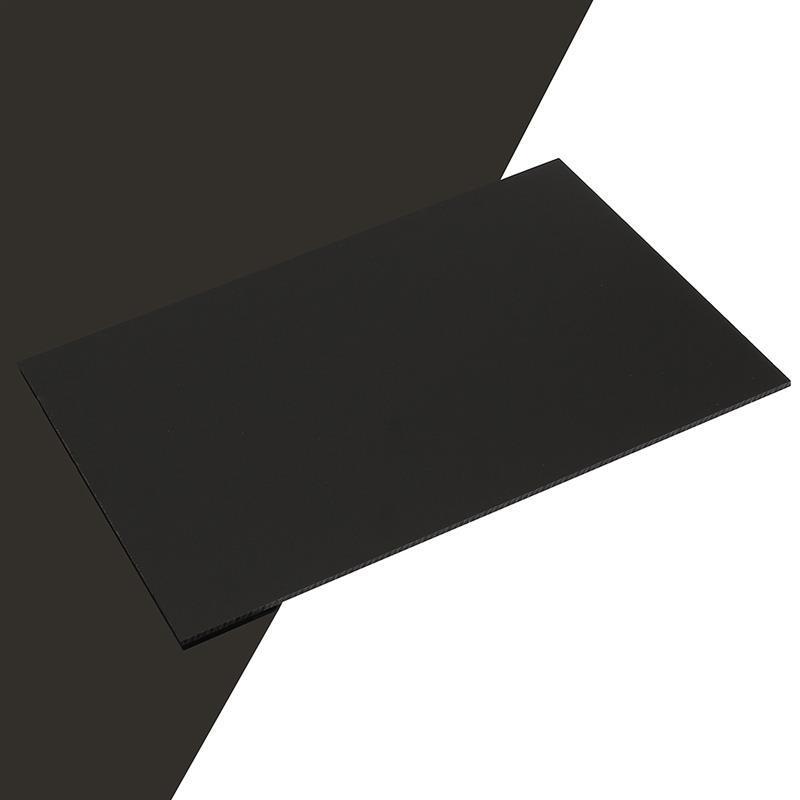 PVC листовой черный/белый 1мм (1,22м х 2,44м)
