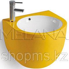Умывальник для ванной подвесной Melana 800-500FYW желтый   **