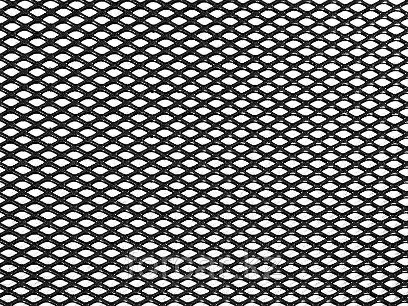 Облицовка радиатора (сетка декоративная) алюминий, 120 х 20 см, черная, ячейки 6мм х 3,5мм