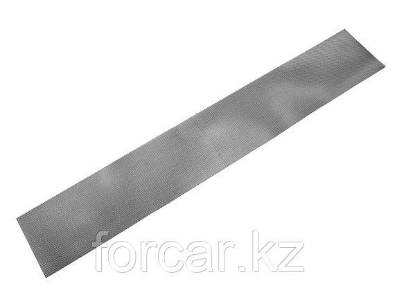 Облицовка радиатора (сетка декоративная) алюминий, 120 х 20 см, черная, ячейки 6мм х 3,5мм, фото 2