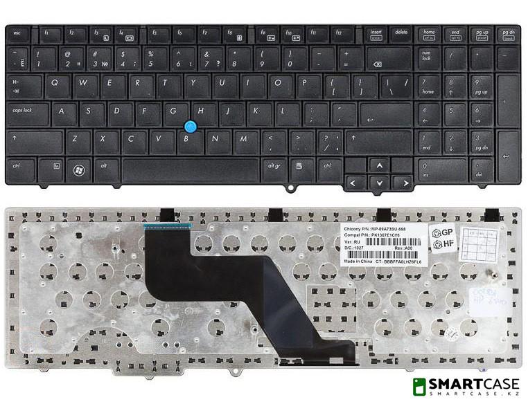 Клавиатура для ноутбука HP ProBook 6540B с тензометрическим джойстиком (черная, ENG)