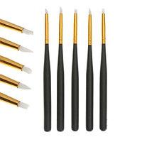 Набор кистей для дизайна ногтей силиконовых 5 штук