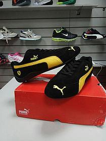 Кроссовки Puma Ferrari замшевые черно-желтые