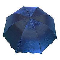 """Складной женский зонт с системой """"антиветер"""", синий, фото 1"""