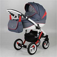 Универсальная детская коляска Adamex Barletta 2в1 (Red/Blue), фото 1