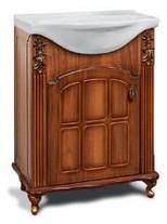 """Тумба под раковину """"Версаль""""  65 см (белое патина золото, голубое патина золото). Настенное зеркало.Шкаф., фото 2"""