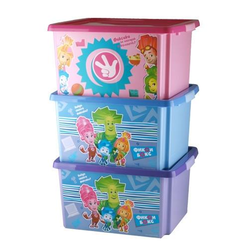 """Ящик для игрушек """"ФИКСИКИ"""" 30 л. синий 48022 (003) - фото 2"""