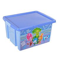 """Ящик для игрушек """"ФИКСИКИ""""  30 л. синий 48022 (003)"""