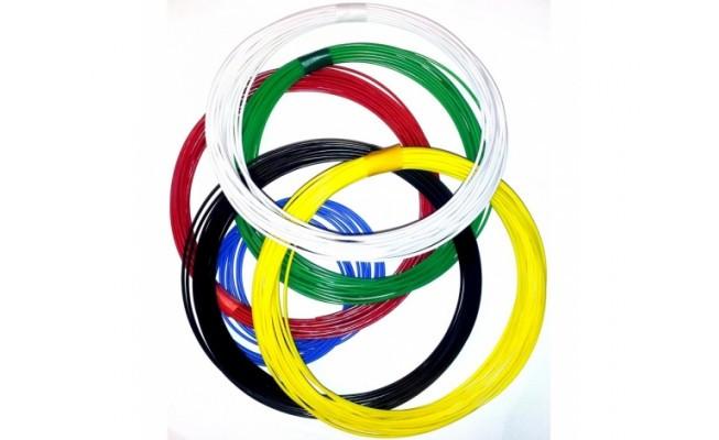 Набор пластика PCL в различных цветах 25м (5 цветов по 5м)