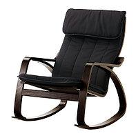 Кресло-качалка ПОЭНГ черно-коричневый ИКЕА, IKEA, фото 1
