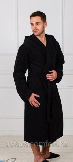 Халат махровый с капюшоном, мужской. Россия