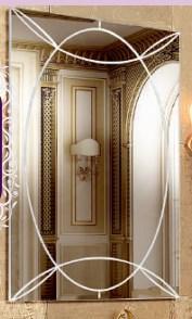 """Тумба под раковину """"Розалия"""" 85 см (белая,патина золото). Настенное зеркало.Шкаф. , фото 2"""