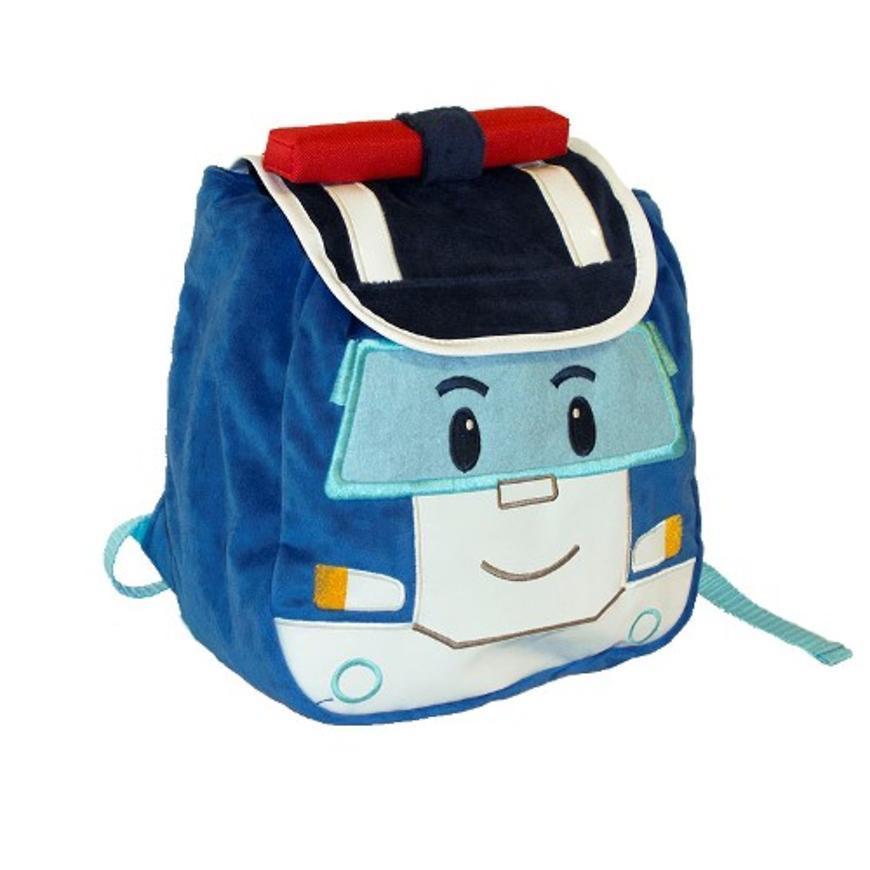 Плюшевый рюкзак Поли Робокар с крышкой