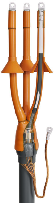 Концевые муфты наружной установки для кабелей с изоляцией из сшитого полиэтилена до 10кВ
