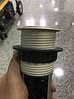 Выдвижные розетки в столешницу 3 розетки 2xUSB, черный, с проводом 1,5 метра GTV, фото 8