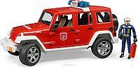 Внедорожник Jeep Wrangler Unlimited Rubiсоn пожарная с фигуркой Арт. 02-528 Bruder