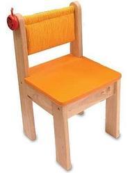 Детский стульчик из дерева, оранжевый