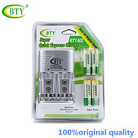 Зарядное устройство BTY-802 AA,AAA,9v +4 аккумулятора AA 3000mAh