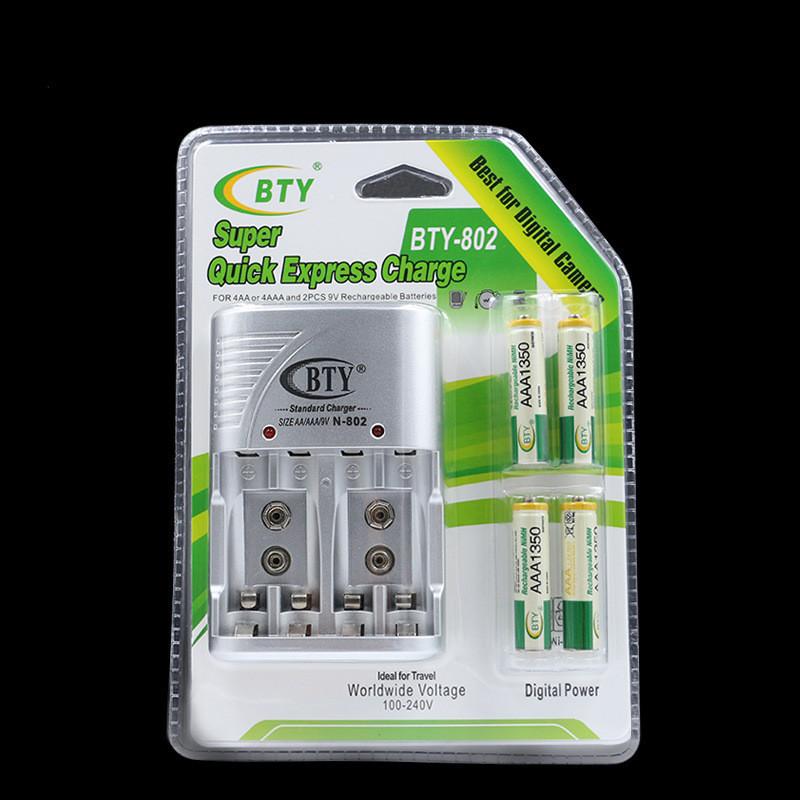 Зарядное устройство BTY-802 AA,AAA,9v +4 аккумулятора AAA 1350mAh