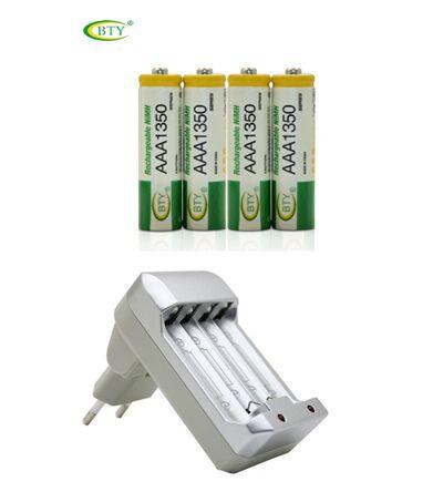 Зарядное устройство BTY-809 и аккумуляторные батареи   4 AAA 1350мАh