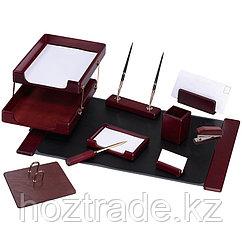Настольный набор Delicci для руководителя, красное дерево, 10 предметов.