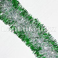 Мишура новогодняя зеленая (для обшивки костюмов) d=5 см