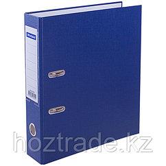 Папка регистратор 7 см с карманом, нижний мет. кант. синий цвет Berlingo