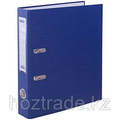 Папка регистратор OfficeSpace 7 мм с кармашком, бумвинил, синяя
