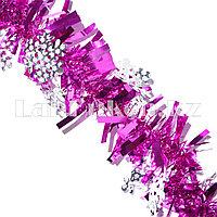 Мишура со снежинкой фиолетовая d=7 см
