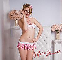 """Костюм """" Студентка - Милашка"""" - розовый, фото 1"""