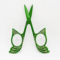 Ножницы маникюрные, зеленые, фото 1