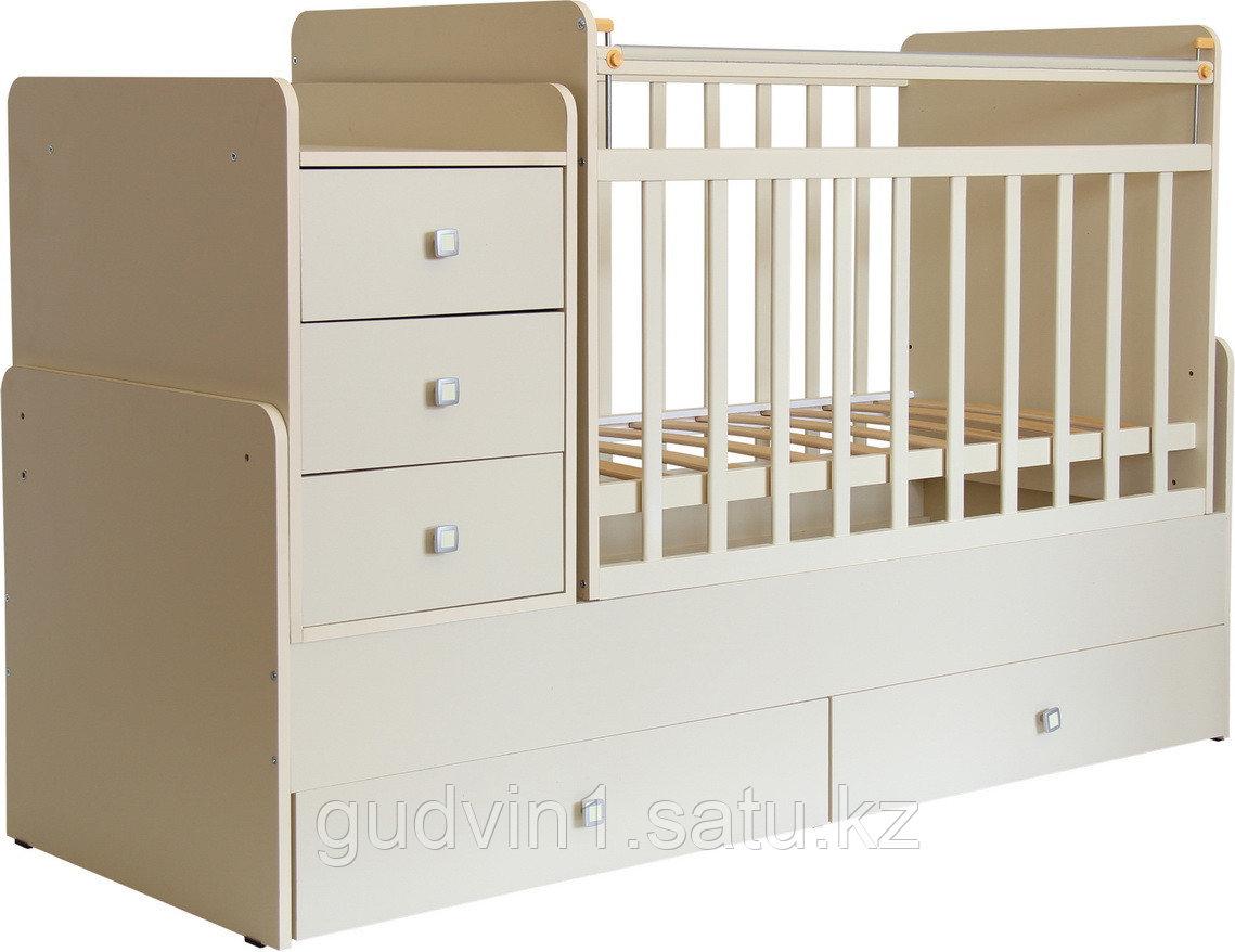 Детская кроватка-трансформер Фея 1100 Слоновая кость 00-50272