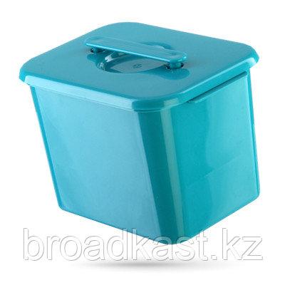 Бак для сбора, хранения и перевозки медицинских отходов 1,3 л.