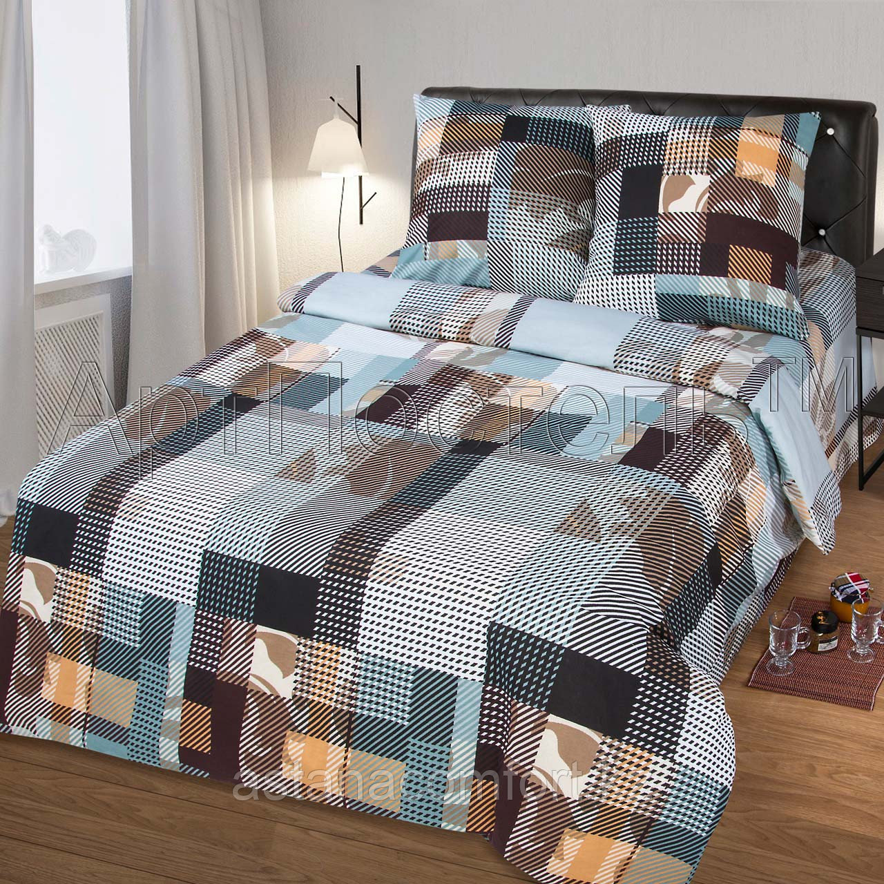 """КПБ """"Альфред"""", 2х-спальный с евро-простыней, бязь."""