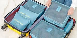 Комплект органайзеров для перевозки вещей в чемодане