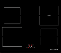 Варочная поверхность Kuppersberg FA6IF01 черный/передний край FACET