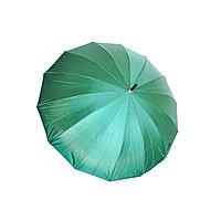 Женский зонт-трость полуавтомат, зелёный, фото 1