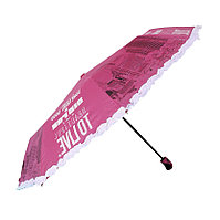 """Полуавтоматический складной женский зонт с рюшами """"Beautiful to live"""", фото 1"""