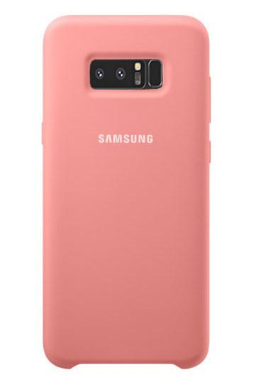 Силиконовый чехол Silky and Soft-touch finish для Samsung Galaxy Note 8 N950 (розовый)