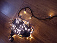Гирлянда светодиодная НИТЬ, 100 м. (5х20м.), теплый, белый, синий,провод черный, фото 6